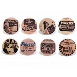 Badges (lot de 8) - série Vintage